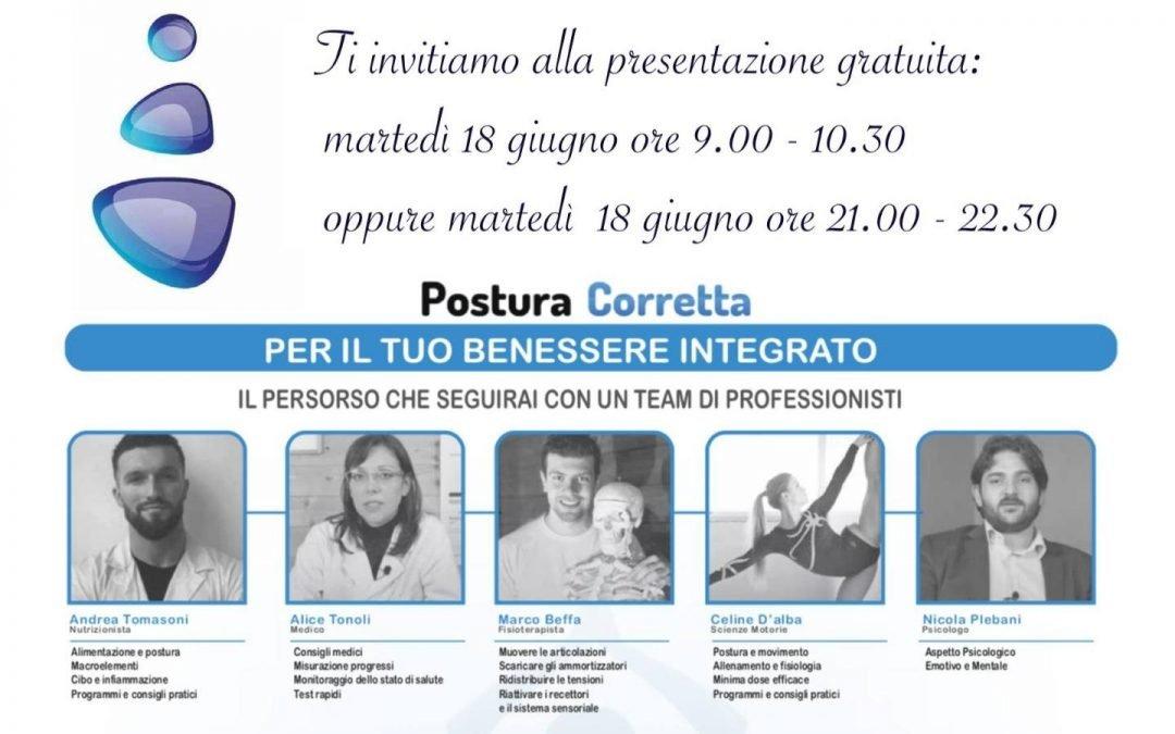 Presentazione progetto PosturaCorretta